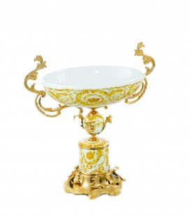 Oval Golden Centerpiece