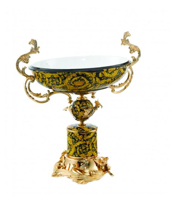 Oval Golden Centerpiece